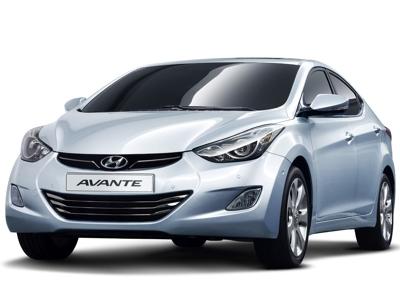 Каркасные шторки на Hyundai Avante MD (с 2010 по н.в.)