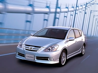 Каркасные шторки на Toyota Caldina T240 правый руль (с 2002 по 2007)