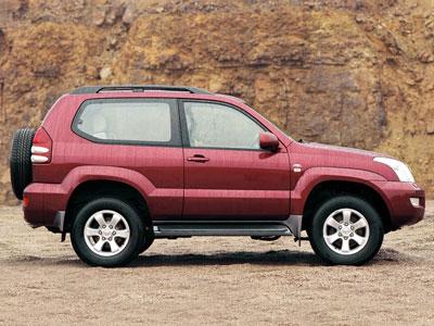 Каркасные шторки на Toyota Land Cruiser Prado 120 (3-дв., 2002 - 2009)